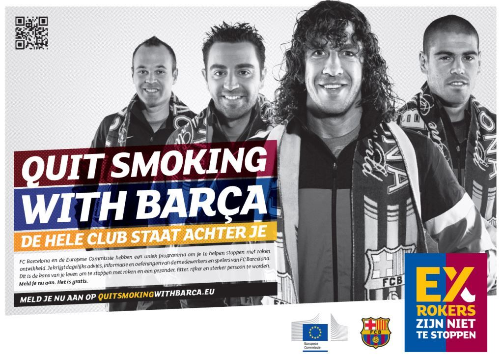Ex-smokers Quit smoking with Barca